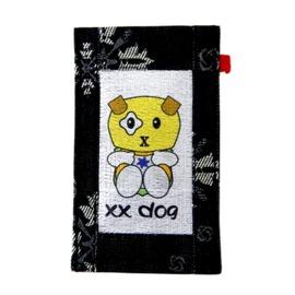【CHINNEX】手工製作 ◎ 丹寧布刺繡手機吊袋 ◎ 可裝一般手機、眼鏡、各式卡片~~【XX DOG】