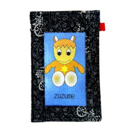 【CHINNEX】手工製作 ◎ 丹寧布刺繡手機吊袋 ◎ 可裝一般手機、眼鏡、各式卡片~~【ZUZUME】