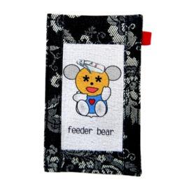 【CHINNEX】手工製作 ◎ 丹寧布刺繡手機吊袋 ◎ 可裝一般手機、眼鏡、各式卡片~~【奶瓶娃娃】