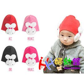 【HH婦幼館】韓版超Q可愛兔護耳造型帽‧針織護耳帽/嬰兒造型帽.四色可挑