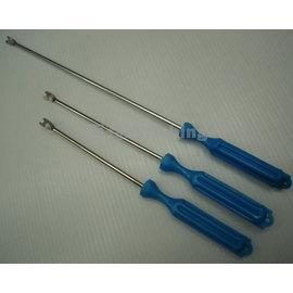 ◎百有釣具◎鐵製塑膠柄脫鉤器18cm
