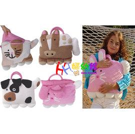 【HH婦幼館】經典造型兒童寵物動物手提袋/背包/媽媽包.內附枕頭