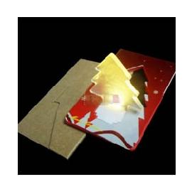 【BTQ第一美人時尚館】LED豎立式照明卡片燈-聖誕樹造型 迷你手電筒 緊急照明