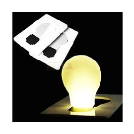 【BTQ第一美人時尚館】LED豎立式照明卡片燈-燈泡造型 迷你手電筒 緊急照明