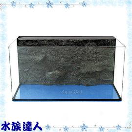 【水族達人】雅柏UP《2尺ㄇ型魚缸(3D岩板).60*30*30cm》含過濾設備、濾材!