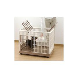 ~Richell 外觀極具 .相當氣派塑膠寵物籠^(P.K~650^)~小型犬用,底部加滾
