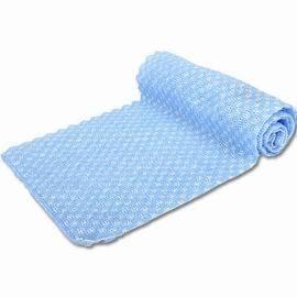 LACOYA 竹炭雙面毛刷沐浴巾~藍^(CP965~4^)