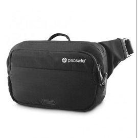 【澳洲 Pacsafe】Venturesafe-100 GII 新款防盜腰包.RFID讀取保護.防割.鋼質纜繩.MP3穿孔.臀包.可前背.手拿包/黑 PA024BK(缺貨中)