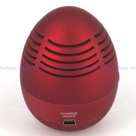 攜帶型 電腦/筆電/MP3/iPOD/隨身聽行動喇叭 內建鋰電 音箱 蛋型(28-638)
