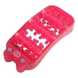 新 粉紅 小豬 造型 滾輪式 腳板 腳底 保健 按摩器 小巧 好攜帶 (58-242)