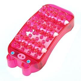 新 粉紅 小豬 造型 滾輪式 腳板 腳底 保健 按摩器 小巧 好攜帶 (58-383)