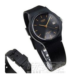 MW~59~1EVDF 卡西歐 CASIO 指針錶 黑面 黑金配色 日期 黑色橡膠錶帶 3