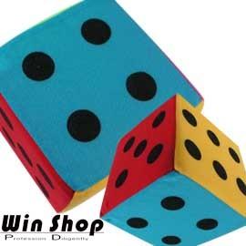 【WinShop】☆2個含運價☆大海綿彩色鈴鐺骰子,訓練小朋友的反應能力,大人小孩都可一起同樂喔!