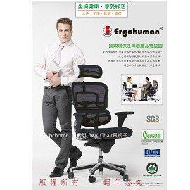 Ergohuman 111 豪華版 人體工學電腦椅~Matrex網~加贈:補強腰靠 豪優