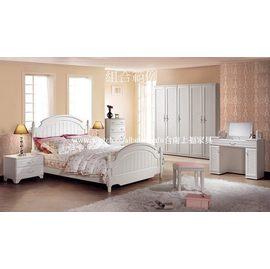^~台南市上福 ^~ 韓式白色.雙人床.公主床.藝術企口雙人床.白色床頭櫃.白色衣櫃