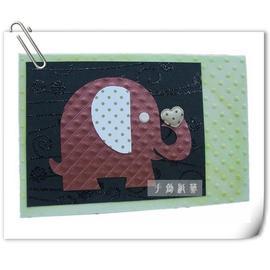 情人節手工卡片【甜蜜大象】