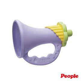 【安琪兒】日本【People】新彩色米的喇叭咬舔玩具(米製品玩具系列)-KM018