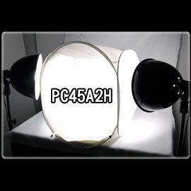 柔光天地.PC45A2H可攜式二聯攝影棚燈45cm雙燈組.大功率 白光攝影燈.贈多樣好禮