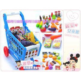 麗嬰兒童玩具館~新款扮家家酒-寶貝超市購物推車ak蔬果組合大推車