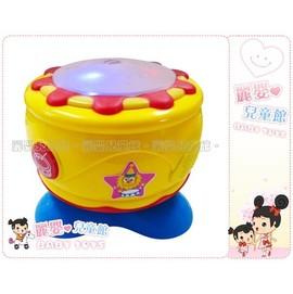麗嬰兒童玩具館~baby樂園-嬰兒專用閃光敲打音樂鼓-.旋轉手拍打電子鼓