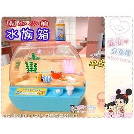 麗嬰兒童玩具館~mini word.我的電子寵物-開心小魚水族箱-音樂餵食寵物