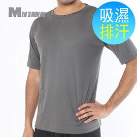 ~MEN^`S non~no儂儂~透氣排汗 衫~灰色~可外穿 超涼感 排汗超強 透氣 機能