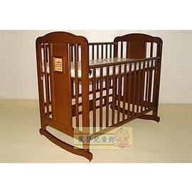 麗嬰兒童玩具館~越南原木-鄉村風情嬰兒特大床可搖擺.多階段成長調整.附床側版【台灣製】