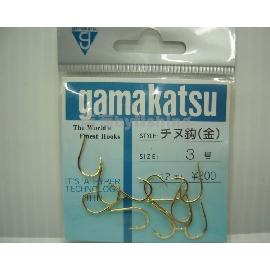 ◎百有釣具◎日本gamakatsu 千又金色黑鯛原廠鉤日幣300元