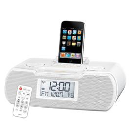 清庫存【山進】《SANGEAN》ipod專用喇叭◆二波段數位式時鐘收音機《RCR-10》