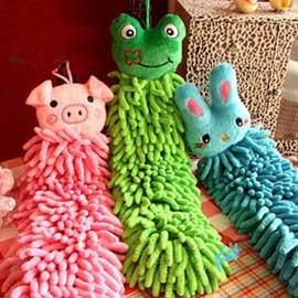(特賣)雪尼爾可愛動物擦手巾 ◇/雪尼爾超乾爽擦手巾