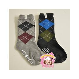 日單✿Combimini 深色系- 菱紋紳士中長襪(2枚組) 12-15cm/15-19cm