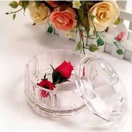 歐風時尚 愛麗絲寶盒透明收納盒/珠寶盒(附蓋)~高級壓克力材質,透亮精緻,台灣外銷歐美精品!◇/化妝盒