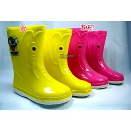百振江~大象 ~ 新潮卡通兒童雨鞋^~黃色 粉紅可愛兒童 雨鞋100^%  ^~經濟型^~