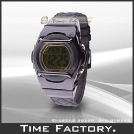 ~時間工廠~ 貨 CASIO BABY~G ~黑色菱紋皮錶帶~ 腕錶 MSG~160BL