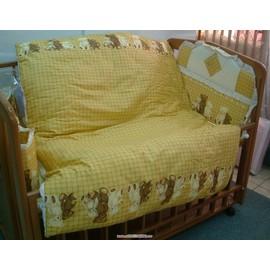 伯爵熊純棉七件式嬰兒棉被組(L)-贈品牌嬰兒襪*1雙