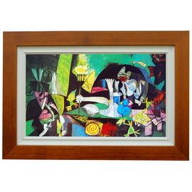 畢卡索複製畫^(羅丹畫廊^)裝飾畫油畫布 裝飾畫 壁畫 世界名畫作品 掛畫 複製畫加框