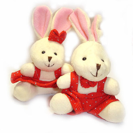 【花現幸福】結婚禮品我最省☆ 甜蜜囍兔下殺批發價☆婚禮玩偶  婚禮小物