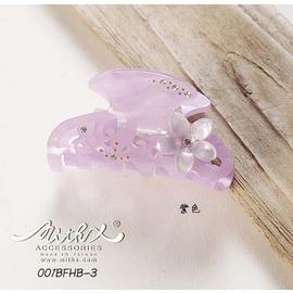 MITHX手創 紫 彩繪鑲鑽 鯊魚夾 抓夾 髮夾 吸睛指數滿分單品