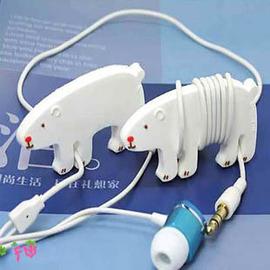 可愛 北極熊集線器/捲線器/繞線器收線器◇收納整理/耳機集線器 mp3 mp4 iPOD/集線棒