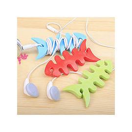 彩色 魚骨頭造型集線器/捲線器/繞線器收線器◇收納整理/耳機集線器 mp3 mp4 iPOD/集線棒