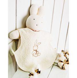 知蓮有機棉-~有機棉毛巾幼兒可穿式圍兜~,,厚毛巾 ,吸溼特性佳,寶寶流口水也不易弄溼衣服