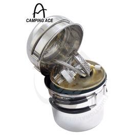 【台灣製】個人團體登山爐具套裝組-不銹鋼兩用壺鍋+碗+超大蜘蛛爐(攻頂爐)+擋風板+高山瓦斯 1561B