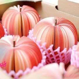 創意蘋果便條紙◇/水果便條紙/水果造型便條紙