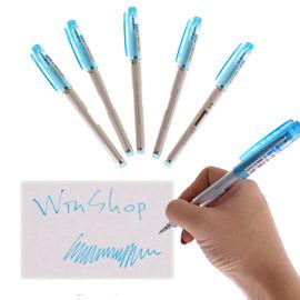 【Win-Shop】☆團購力量大!!10支含運送到家☆0.38中性藍色原子筆,超好用文具,宣傳贈品筆,開幕活動贈品禮品!