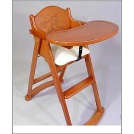 L.A. Baby 巴黎熊高級原木摺疊餐椅 兒童餐椅-費雪餐用圍兜*1