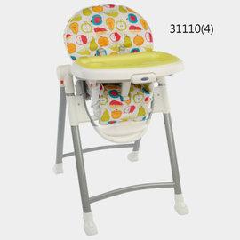 GRACO Contempo 可調式高低餐椅(31110水果王國)-贈Nuby造型領巾*1及旅行湯匙組*1