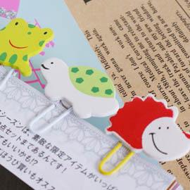 【Q禮品】韓國熱賣暢銷款!動物/昆蟲木質造型迴紋針(一組12入),拍立得/名片夾/書籤/卡片夾
