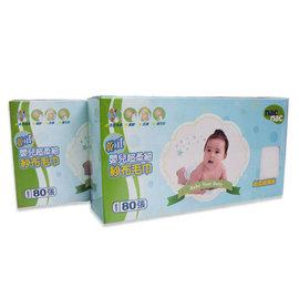 nac nac 嬰兒拋棄式乾濕兩用紗布毛巾(2盒)