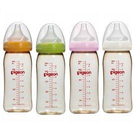 貝親 新寬口母乳實感PPSU奶瓶(240ml)   橘/綠/粉/白