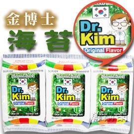 【韓購網】金博士竹鹽橄欖油海苔(3包/條)★低鹽、酥脆、爽口,通過HACCP認證的高品質產品